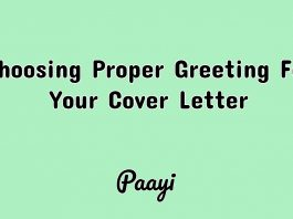 Choosing Proper Greeting For Your Cover Letter