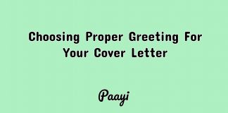 Choosing Proper Greeting For Your Cover Letter, Paayi