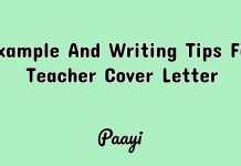 Example And Writing Tips For Teacher Cover Letter, Paayi