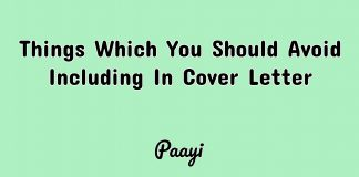Things Which You Should Avoid Including In Cover Letter, Paayi