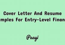 Cover Letter And Resume Samples For Entry-Level Finance, Paayi