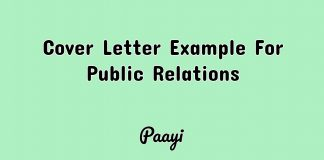 Cover Letter Example For Public Relations, Paayi
