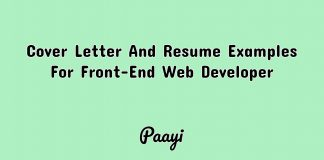 Cover Letter And Resume Examples For Front-End Web Developer, Paayi