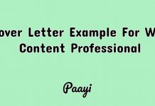 Cover Letter Example For Web Content Professional, Paayi