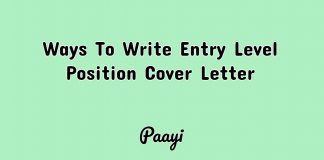 Ways To Write Entry Level Position Cover Letter, Paayi