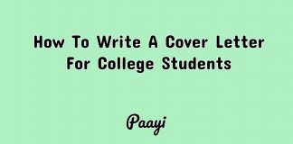 How To Write A Cover Letter For College Students, Paayi