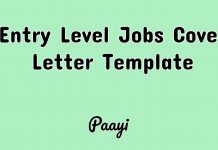 Entry Level Jobs Cover Letter Template, Paayi