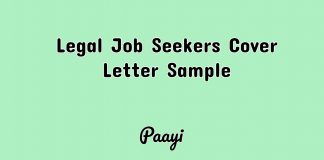 Legal Job Seekers Cover Letter Sample, Paayi