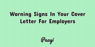 Warning Signs In Your Cover Letter For Employers, Paayi