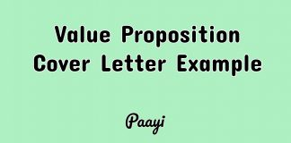 Value Proposition Cover Letter Example, Paayi