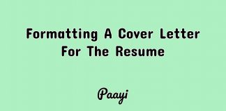 Formatting A Cover Letter For The Resume, Paayi