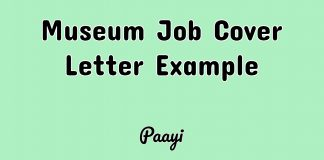 Museum Job Cover Letter Example, Paayi
