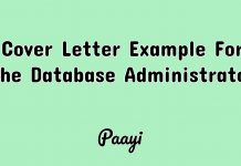 Cover Letter Example For The Database Administrator, Paayi