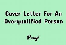 Cover Letter For An Overqualified Person, Paayi