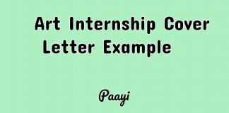 Art Internship Cover Letter Example , Paayi